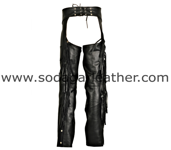 # 5021 MEN CHAPS WITH FRINGES